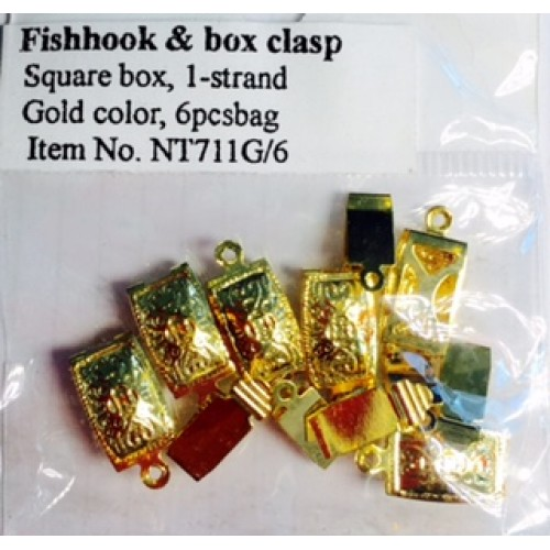 Fishhook & Box Clasp