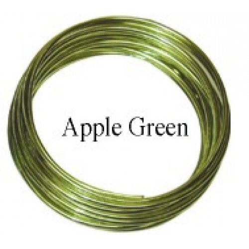 Aluminum Wire #AW-NB15 Apple Green Color