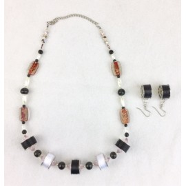 Bobbin Necklace with Earrings  BNE-01