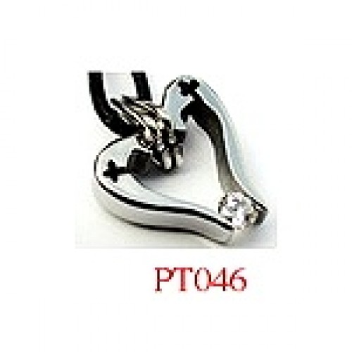 Stainless Steel Pendants Set with CZ (Swarovsky) #PT046