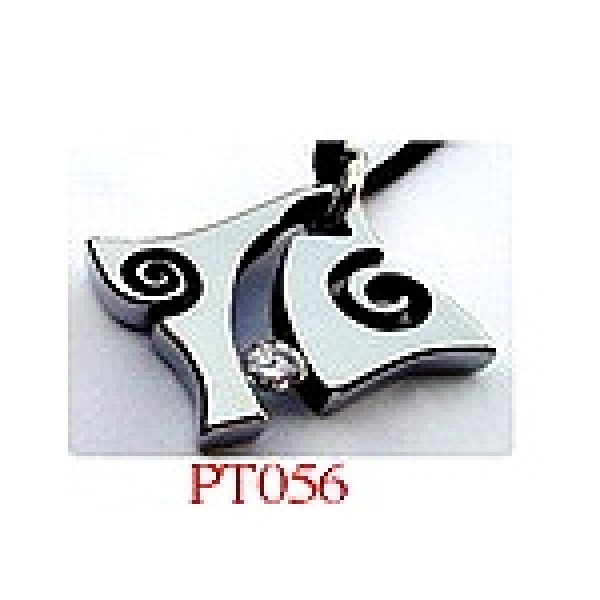 Stainless Steel Pendants Set with CZ (Swarovsky)  #PT056