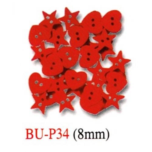 Heart + Star Shape Plastic Buttons