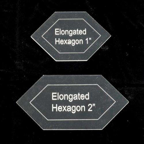 Elongated Hexagon Template