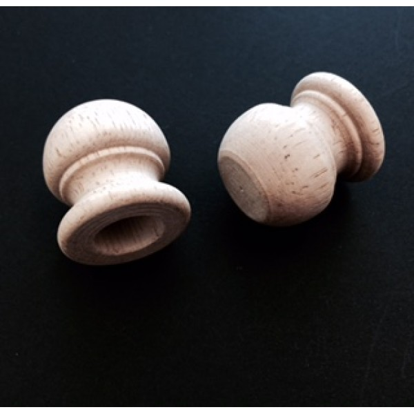 "Wood Dowel Finial Cap  1/2"" (Hole)"