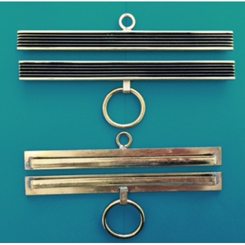 Bell Pull  Brass with Black Stripes