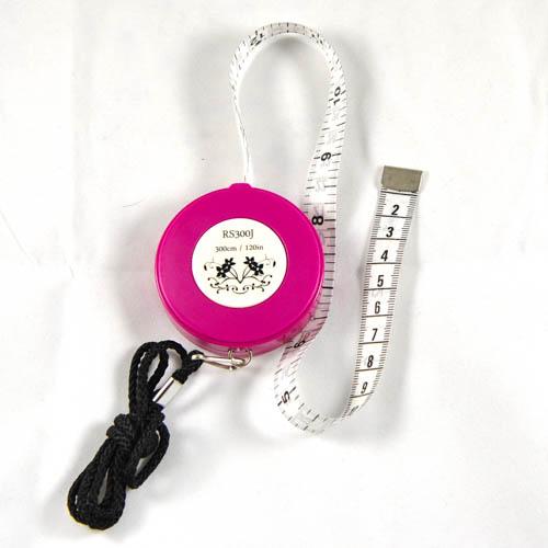 """Retractable Tape Measure w/Strap  300cm/120"""""""