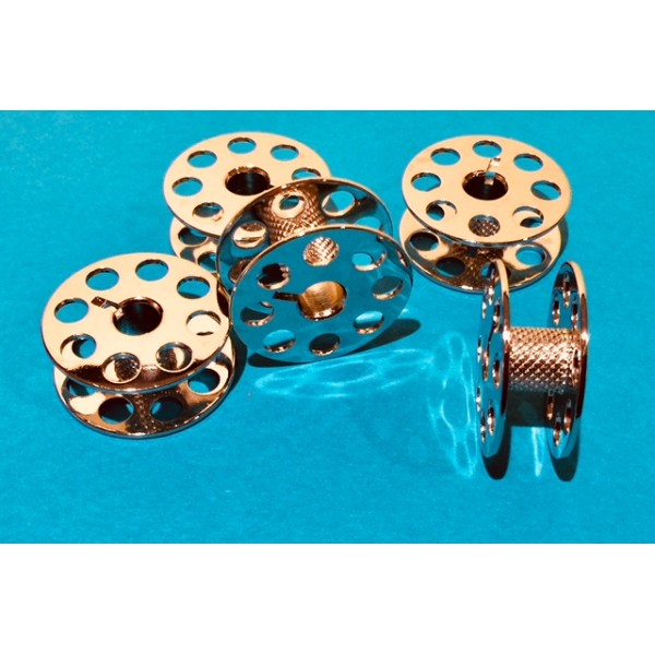 """""""M"""" Style Bobbins (Steel) with Knurled Stem for Quick Winding"""