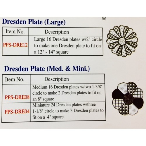 Dresden Paper Piecing Sampler Packs
