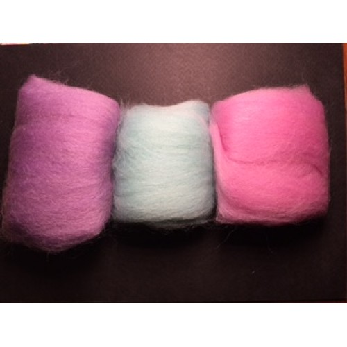 Wool Felt (Roving) 3-pc/Set