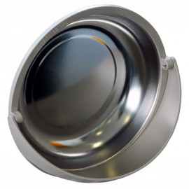 """Magnetic Parts Tray with Pivoting Plastic Cowl  6"""" Round"""