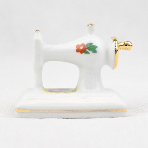 Porcelain Mini Sew. Machine P42WF