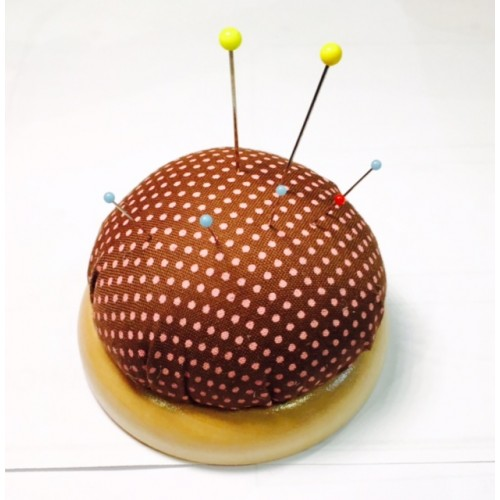Pin Cushion with Wood Base