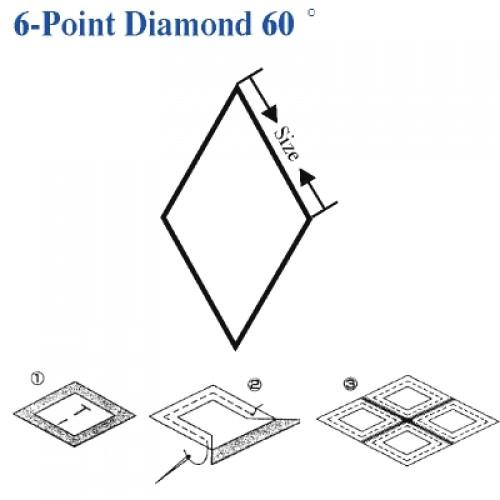 6 Pointed Star (6-Point Diamond)  60 Degree