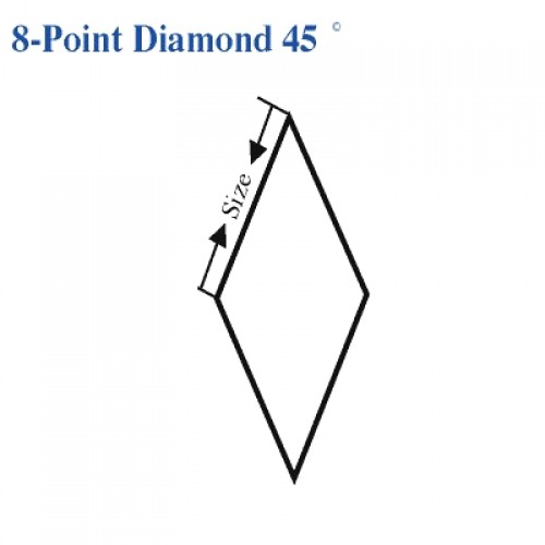 8 Pointed Star  (8-Point Diamond) 45 Degree