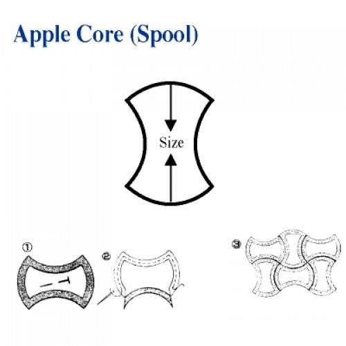 Apple Core (Spool) Shape