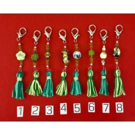 Scissor Fobs with Tassel (Green)