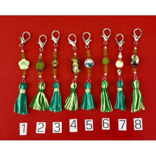 Scissor Fobs with Tassel (Green)