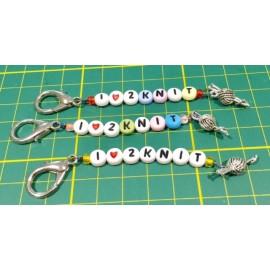 Scissors Fob - I Love 2 Knit
