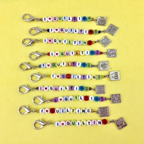 Scissors Fob - I Love Quilting (Colour)