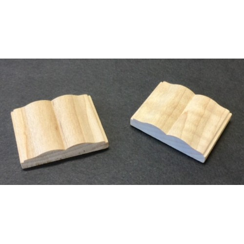 Open Wood Book  Miniature WOB