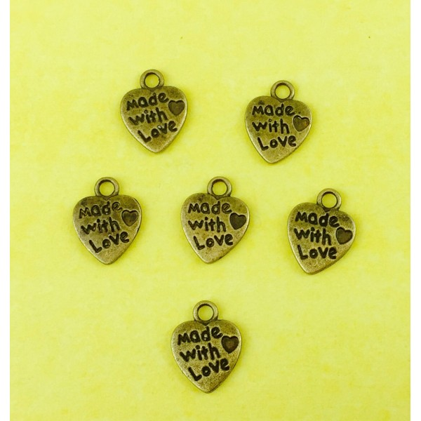 """""""Made With Love"""" Charms"""