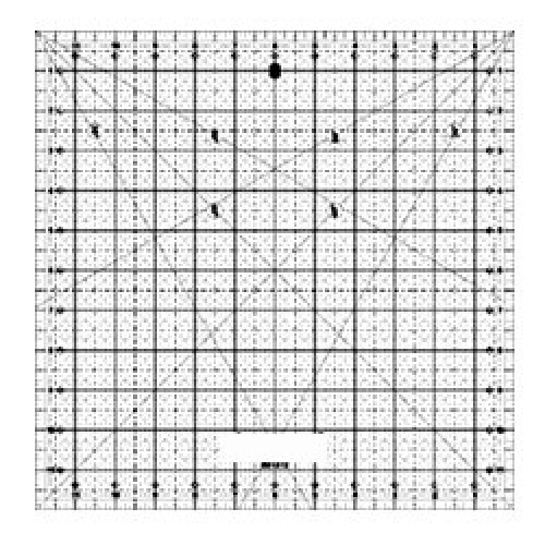 "Quilting Ruler 12""x12"""