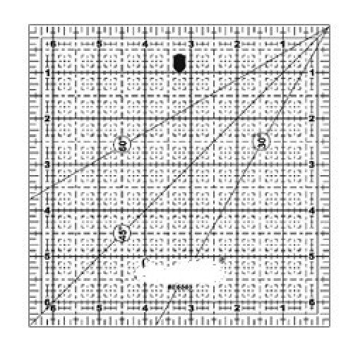 "Quilting Ruler 6.5""x6.5"