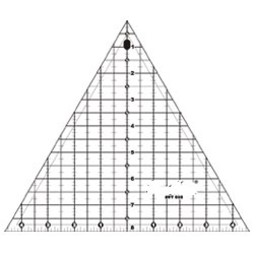 """Quilting Ruler 8"""" Triangle (60 Degree)"""