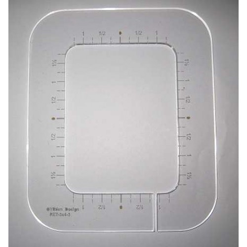 Rounded Rectangle Quilting Template
